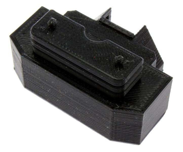 Treckerheld Gewicht Panther in schwarz für Siku Traktoren oben