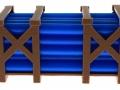 Treckerheld Palette mit Rohren Blau