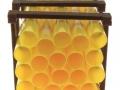 Treckerheld Palette mit Rohren Gelb vorne
