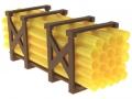Treckerheld Palette mit Rohren Gelb vorne rechts