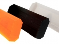 Schiebeschild weiss schwarz orange