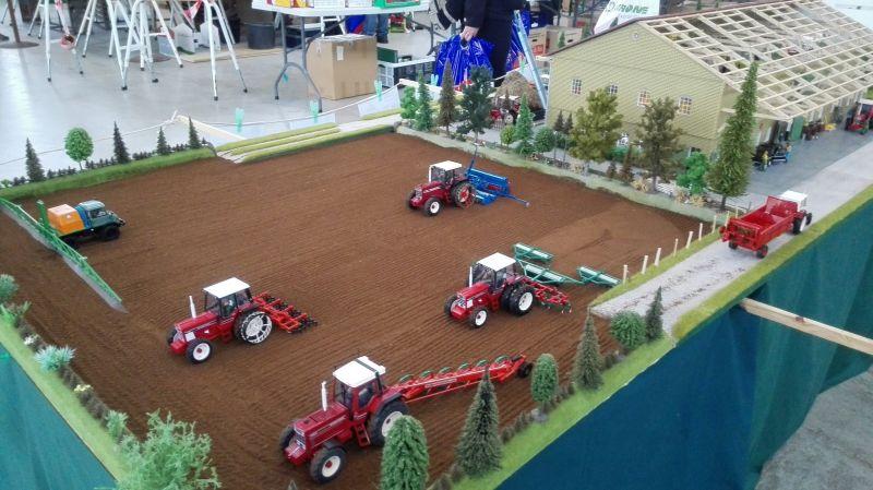 Traktorado 2014 in Husum - Feld von oben