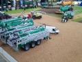 Traktorado 2014 in Husum - Vier Samson Fasswagen