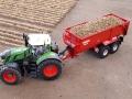 Traktorado 2015 - Fendt 828 Vario mit Krampe Kipper von oben