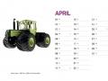 Treckersammlung Kalender 2016 - April