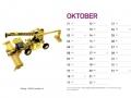 Treckersammlung Kalender 2016 - Oktober