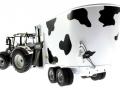 UH 2931 und 4182 - Valtra N142 Peecon Biga Cow Edition Kuhflecken hinten links