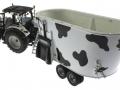 UH 2931 und 4182 - Valtra N142 Peecon Biga Cow Edition Kuhflecken oben hinten links