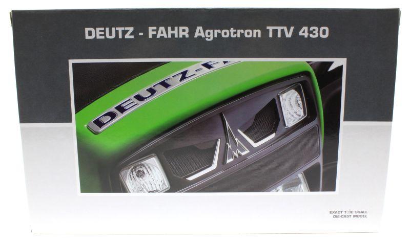 Universal Hobbies 4256 - Deutz-Fahr Agrotron TTV 430 Black Edition Karton hinten