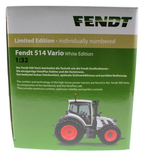 Universal Hobbies 4937 - Fendt 514 Vario White Edition Karton links