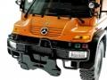 Welly 32380F-2GA - Mercedes Benz Unimog U400 Orange vorne nah