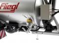 Wiking 077338 - Fliegl Vakuumfasswagen mit Güllegrubber Ablass
