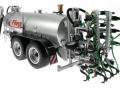 Wiking 077338 - Fliegl Vakuumfasswagen mit Güllegrubber hinten links