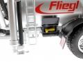 Wiking 077338 - Fliegl Vakuumfasswagen mit Güllegrubber Kasten auf