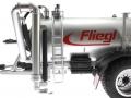 Wiking 077338 - Fliegl Vakuumfasswagen mit Güllegrubber Kasten