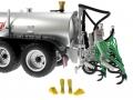Wiking 077338 - Fliegl Vakuumfasswagen mit Güllegruber Stiefel
