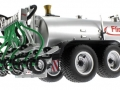 Wiking 077338 - Fliegl Vakuumfasswagen mit Güllegrubber unten hinten rechts