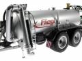Wiking 077338 - Fliegl Vakuumfasswagen mit Güllegrubber vorne links