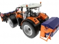 Wiking 71305 und 077389 - Claas Arion 640 Kommunal mit Traktorstreuer Schmidt Traxos FS 12 oben hinten links