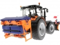Wiking 71305 und 077389 - Claas Arion 640 Kommunal mit Traktorstreuer Schmidt Traxos FS 12 unten hinten links