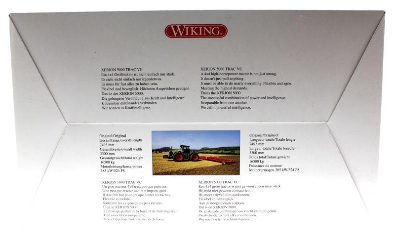 Wiking 7308 - Claas Xerion 5000 Karton hinten
