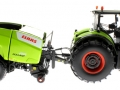Wiking 7314 und 7320 - Claas Axion 950 mit Claas Rollant 455 Uniwrap