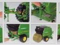 Wiking 7316 - John Deere Rundballenpresse 990 Karton innen