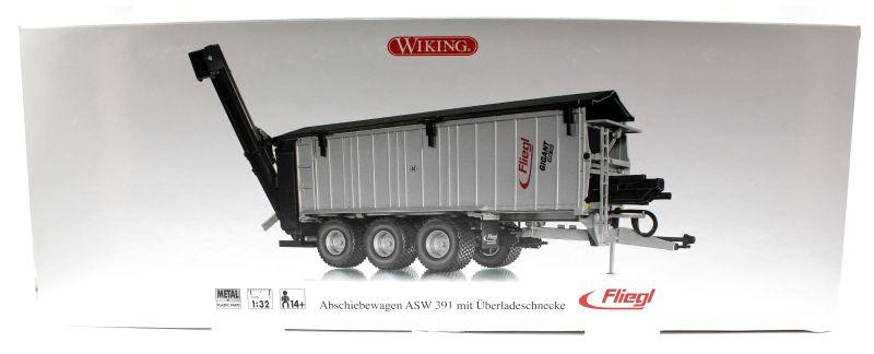 Wiking 7317 - Fliegl Abschiebewagen ASW 391 mit Überladeschnecke Karton vorne