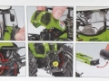 Wiking 7325 - Claas Arion 650 mit Frontlader Karton innen