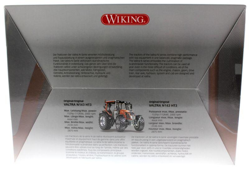 Wiking  - Valtra N143 HT3 Unlimited Sondermodell Agritechnica 2015 Karton hinten