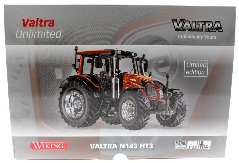 Wiking  - Valtra N143 HT3 Unlimited Sondermodell Agritechnica 2015 Karton vorne