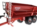 Wiking 7335 - Krampe Big Body 650 mit Rollplane gekippt vorne links