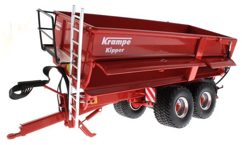 Wiking 7335 - Krampe Big Body 650 mit Rollplane gekippt vorne links