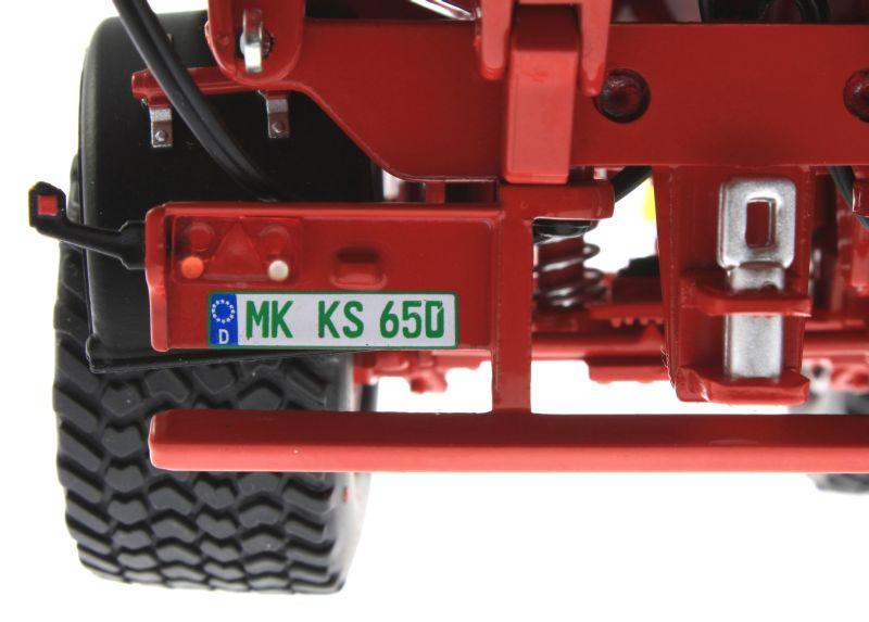 Wiking 7335 - Krampe Big Body 650 mit Rollplane Nummernschild