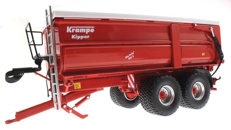 Wiking 7335 - Krampe Big Body 650 mit Rollplane unten vorne links