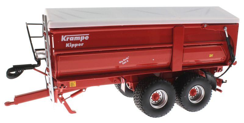 Wiking 7335 - Krampe Big Body 650 mit Rollplane vorne links