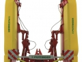 Wiking 7341 - Pöttinger Mähwerk Novacat V10 Heckmähwerk vorne nah