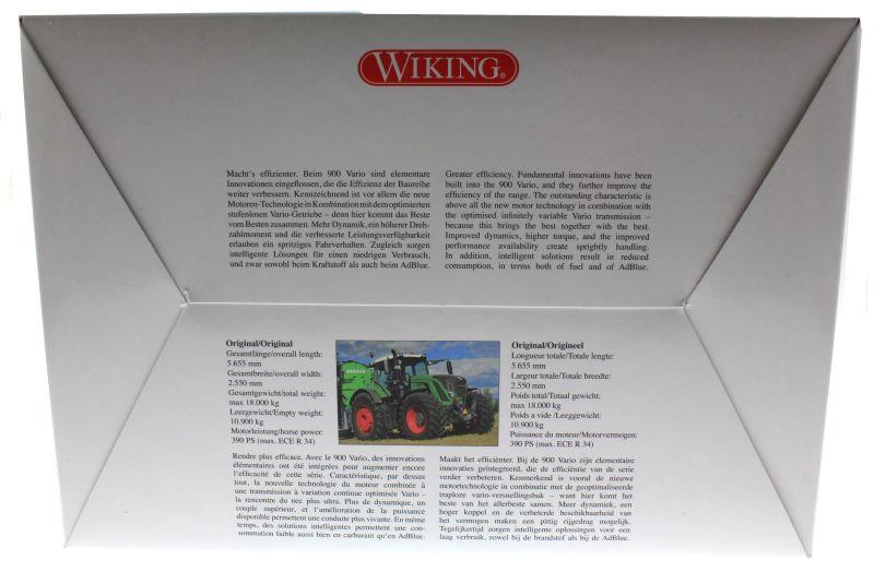 Wiking 7343 - Fendt 939 Vario 2014 karton hinten