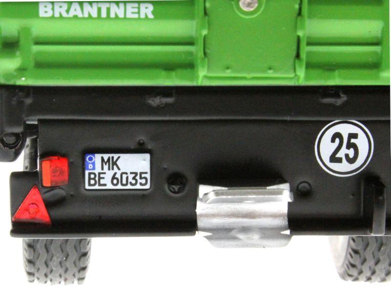 Wiking 7348 - Brantner E6035 Einachs-Dreiseitenkipper Kennzeichen