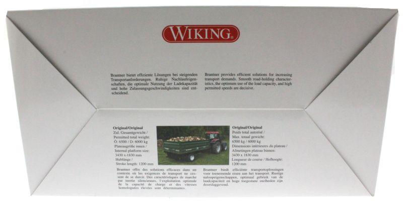 Wiking 7348 - Brantner E6035 Einachs-Dreiseitenkipper Karton hinten