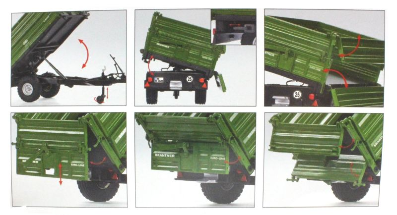Wiking 7348 - Brantner E6035 Einachs-Dreiseitenkipper Karton innen