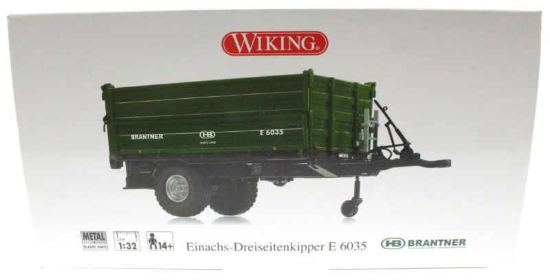 Wiking 7348 - Brantner E6035 Einachs-Dreiseitenkipper Karton vorne