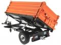Wiking 7348AG - Einachs-Dreiseitenkipper Brantner E6035 Orange Agritechnica gekippt hinten