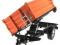 Wiking 7348AG - Einachs-Dreiseitenkipper Brantner E6035 Orange Agritechnica gekippt vorne