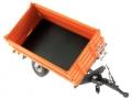 Wiking 7348AG - Einachs-Dreiseitenkipper Brantner E6035 Orange Agritechnica gekippt vorne links