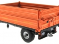 Wiking 7348AG - Einachs-Dreiseitenkipper Brantner E6035 Orange Agritechnica hinten links