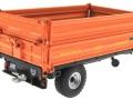 Wiking 7348AG - Einachs-Dreiseitenkipper Brantner E6035 Orange Agritechnica hinten rechts