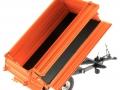 Wiking 7348AG - Einachs-Dreiseitenkipper Brantner E6035 Orange Agritechnica Ladewand offen