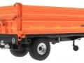 Wiking 7348AG - Einachs-Dreiseitenkipper Brantner E6035 Orange Agritechnica unten hinten rechts