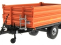 Wiking 7348AG - Einachs-Dreiseitenkipper Brantner E6035 Orange Agritechnica unten vorne links